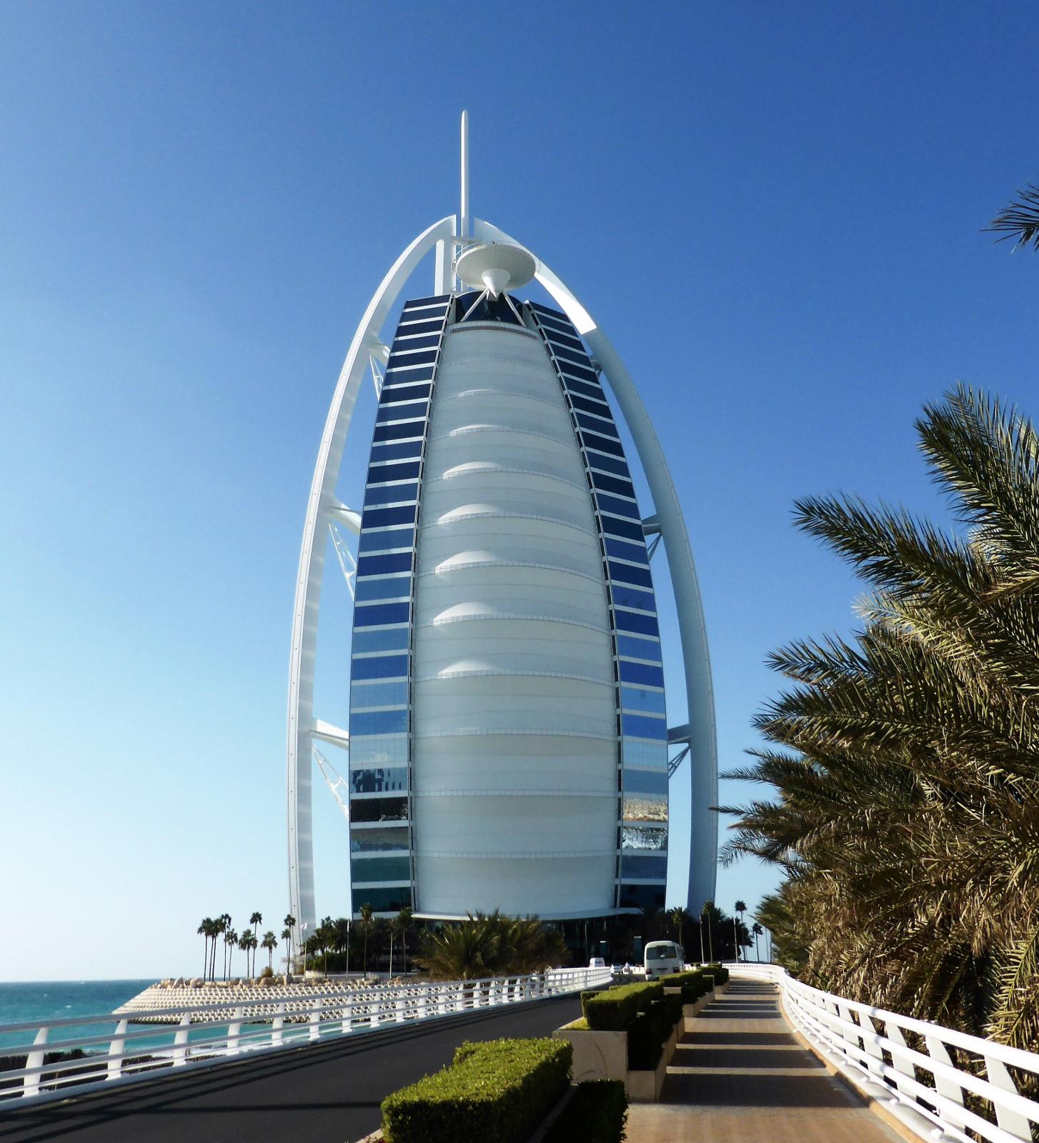 Burj Al Arab W Dubaju Zjednoczone Emiraty Arabskie