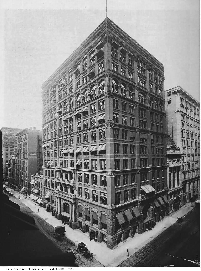 Home Insurance Building w Chicago (USA) - pierwszy wieżowiec
