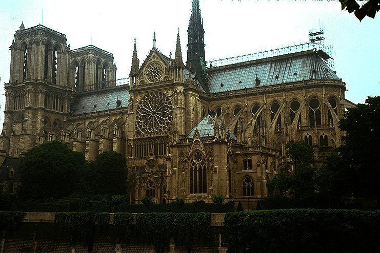 Connu Notre Dame w Paryżu (Francja) - kościół, gotyk MV41