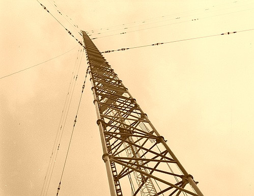 Warsaw radio mast in Konstantynowie (Gąbin, Poland