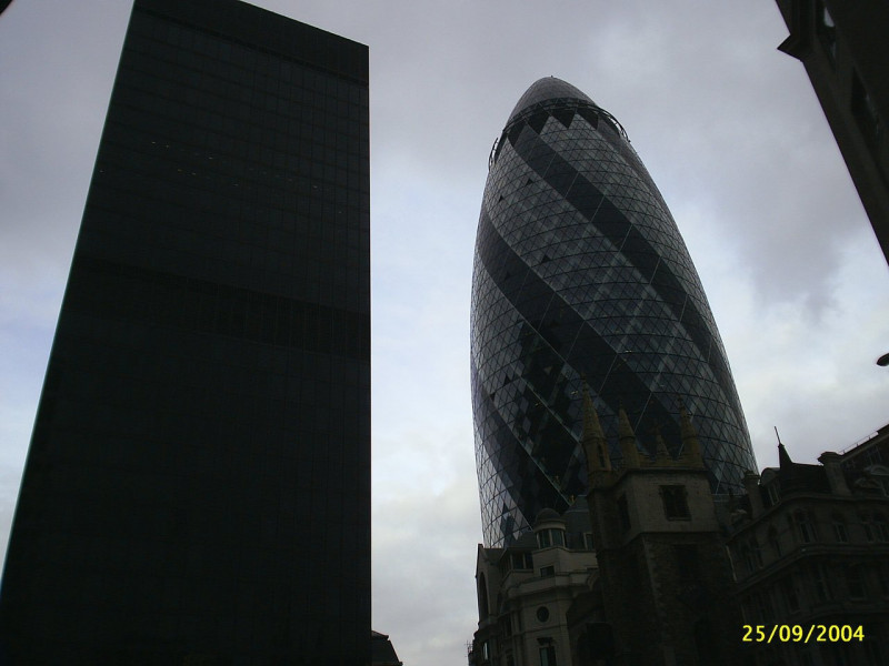 London - two skyscrapers