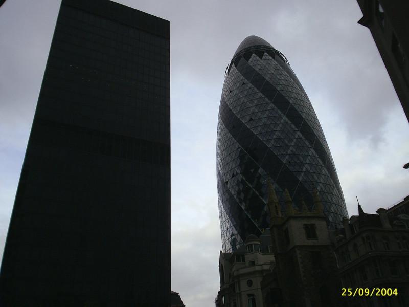 Londyn - dwa wieżowce