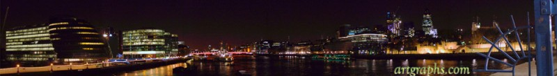 panorama from London Bridge