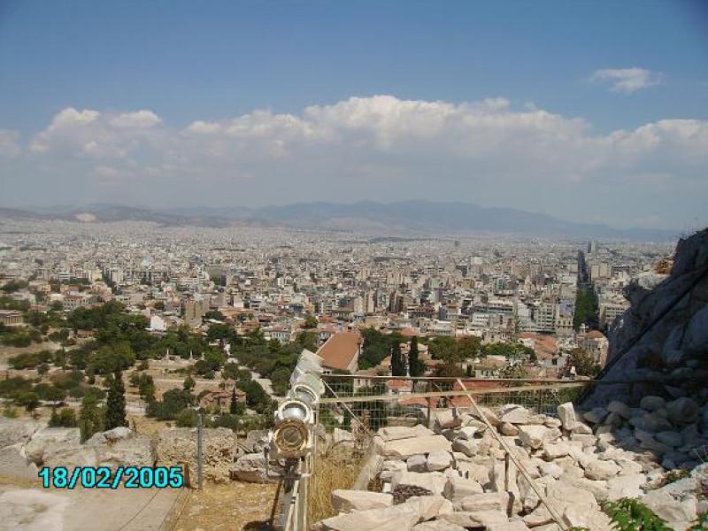 Widok na część Aten z Akropolu