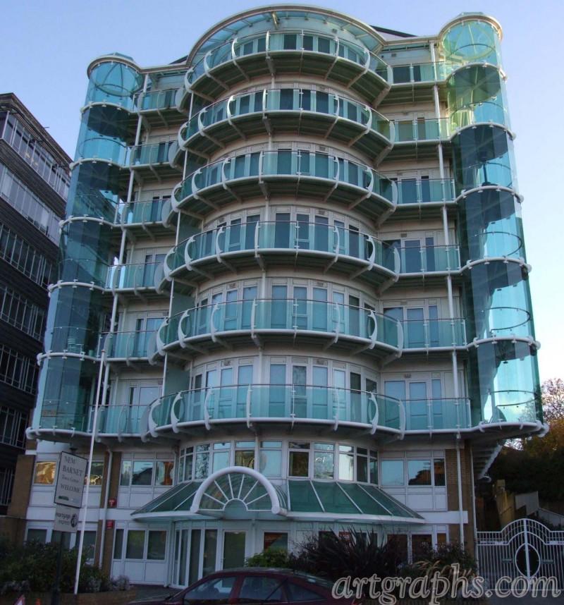 Budynek na New Barnet, Londyn, Anglia.