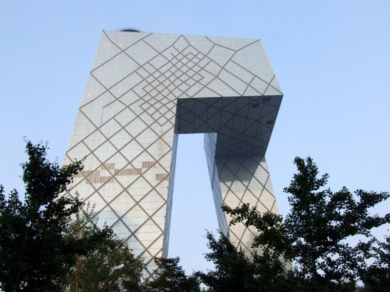 Chiny - Pekin - budynek pekińskiej telewizji CCTV Tower (234 m wysokości)