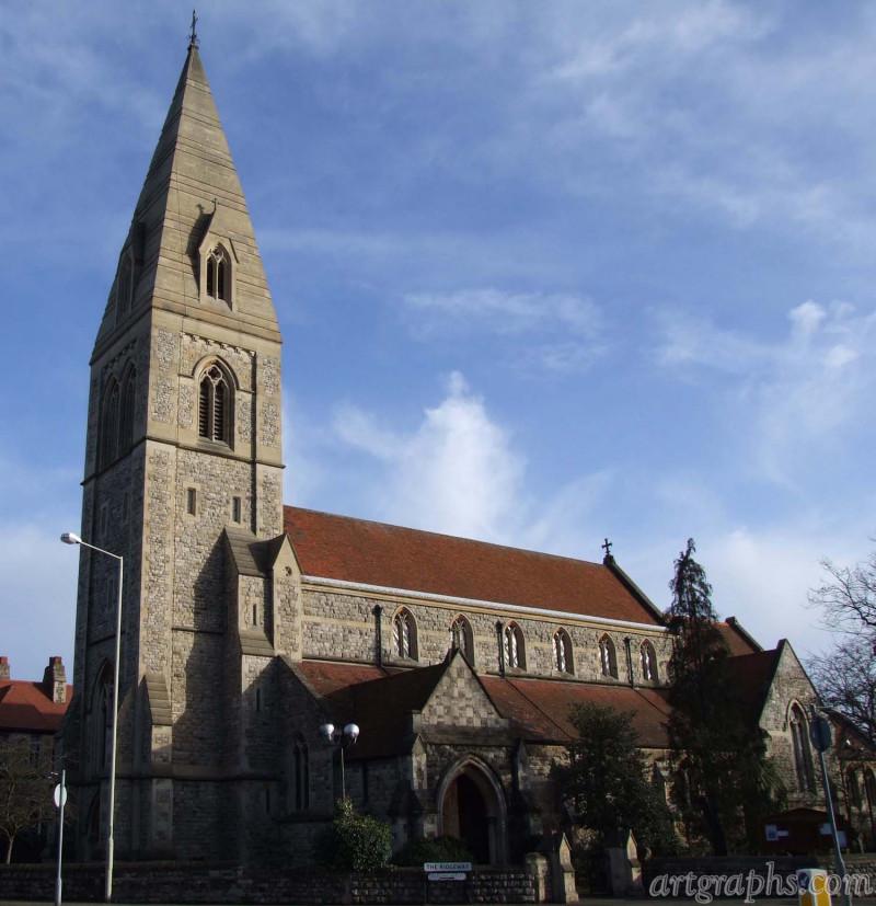 Kościół na Enfield, Londyn, Anglia. Created by Arcii