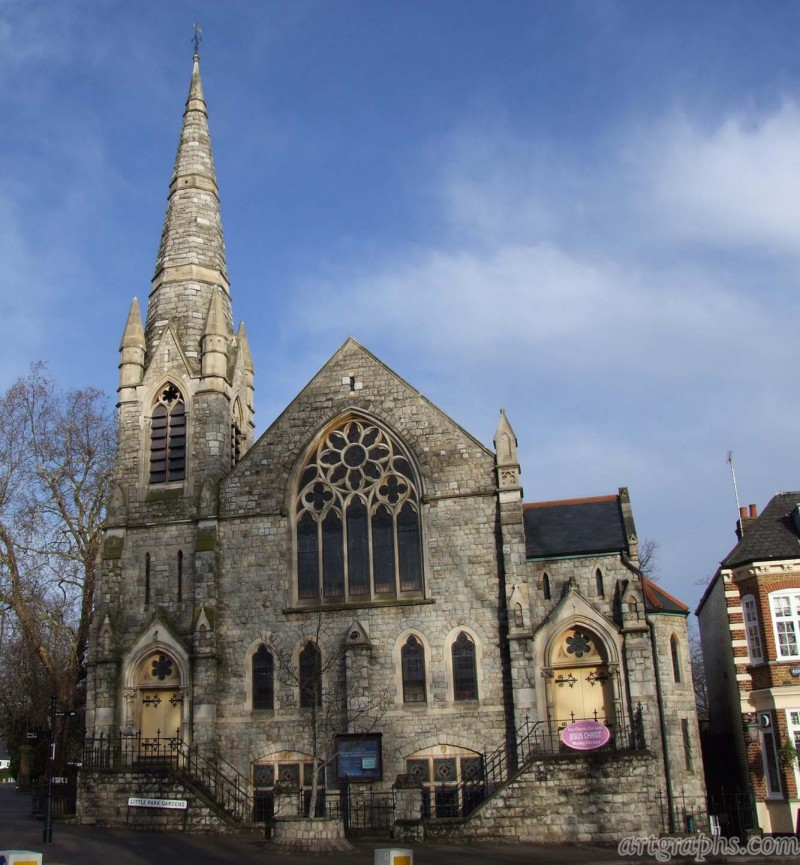 Trinity Church, Enfield,  Londyn, Anglia. Created by Arcii.