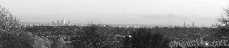 Panorama Londynu z Alexandra Palace, Londyn, Anglia. Created by Arcii