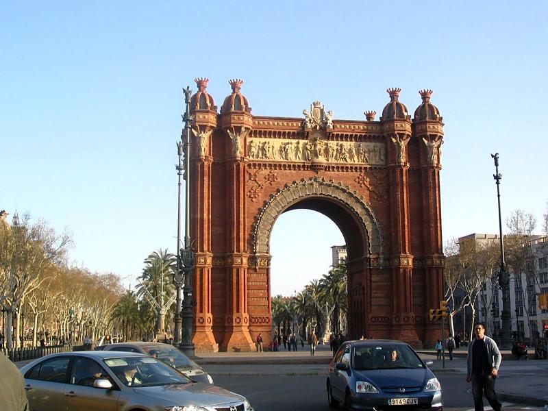Łuk Triumfalny, Barcelona