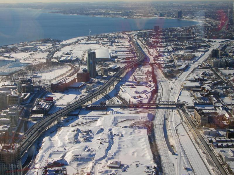 Widok z Wieży CN Tower-TORONTO