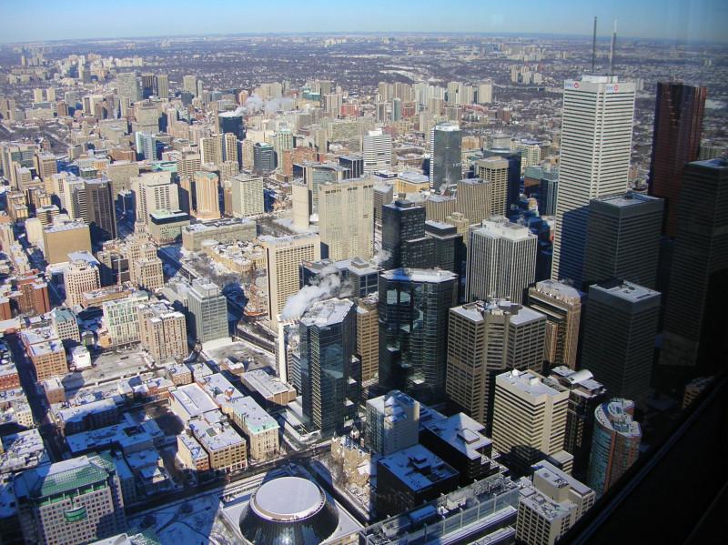 Widok z Wieży CN Tower