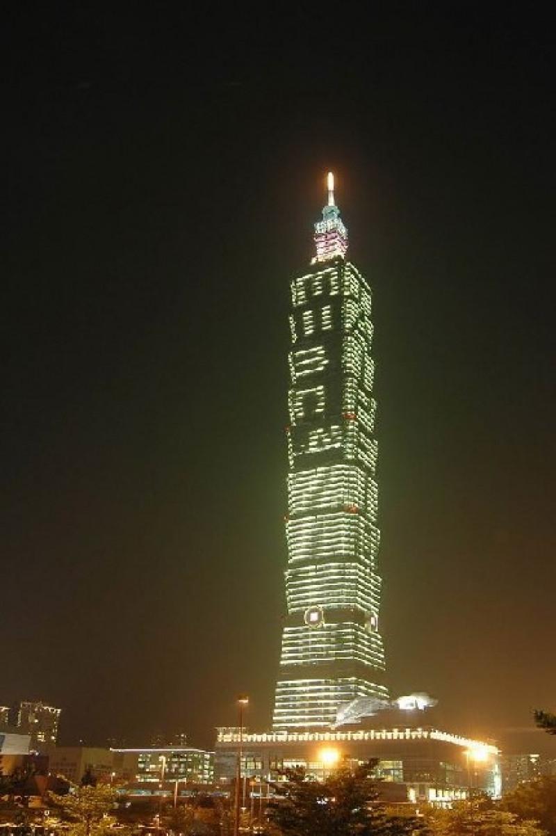 Taipei 101 nocą