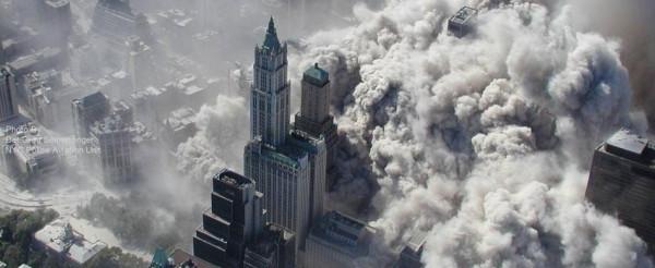 Atak na WTC widziany z powietrza