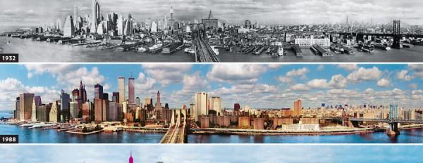 Panorama Nowego Jorku w przeciągu 137 lat