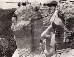 Góra Rushmore od Zdjęcie z budowy