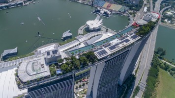 Marina Bay Sands by dronepicr